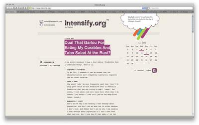 Intensify web page