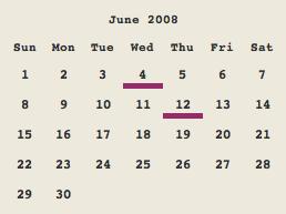 Intensify's calendar sidebar