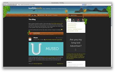 Komodo Media web page