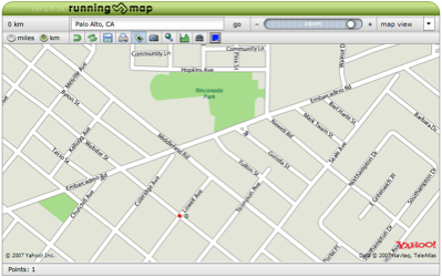 A map on Runningmap.com