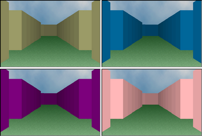 Rendering the walls of the maze with different base colors
