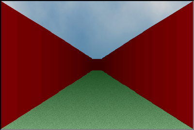 The resetDungeonView method rendering a basic view, without floor plan data