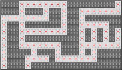 A complete maze floor plan