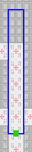 An extract from a floor plan showing the data for a single view