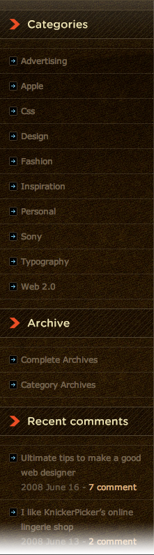 New Concept's sidebar