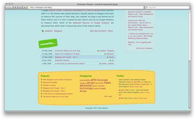 Nimbupani Designs web page
