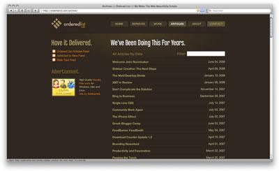 Orderedlist archive page