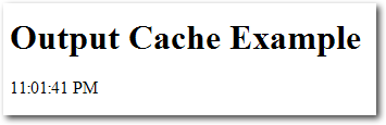 Figure 15.6. Subsequent reloads of a cached page showing no changes to the page content