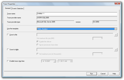 Figure 15.9. Selecting the TSQL_Duration template