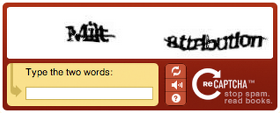 Typical CAPTCHA