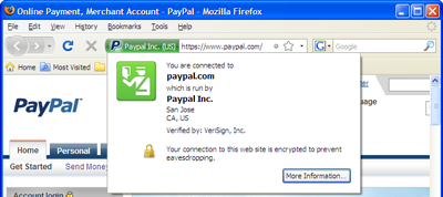 Using Firefox's new web site identification features