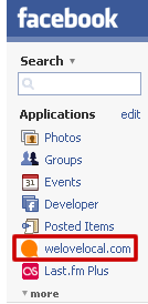 A link has been added to a Facebook sidebar