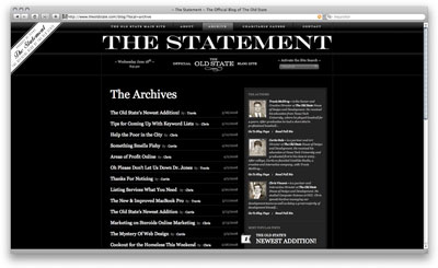 The Statement archive page