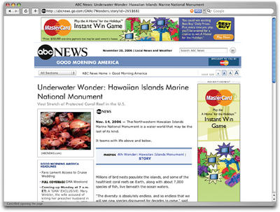 ABC News, featuring Futura headlines powered by sIFR