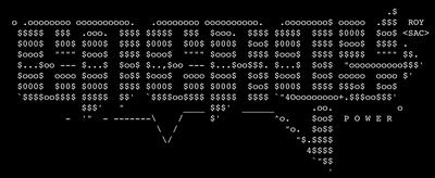 Energy BBS ASCII art by Carsten Cumbrowski