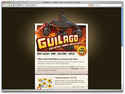 Novelty fonts were used to create the logo for Guilago