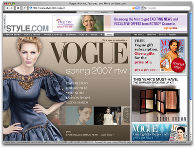 Vogue -- Didot font for timeless style