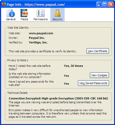 The new Page Info dialog for Firefox 3