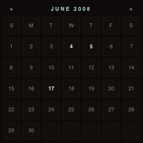 viget Extend's calendar sidebar