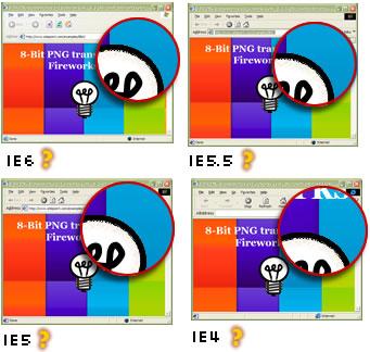 IE4-6 rendering PNG8