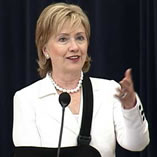 Hillary Clinton at the State Department Town Hall Meeting