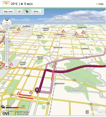 Ovi Maps 3D View