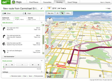 Ovi Maps from Nokia
